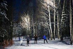 Светодиодное освещение лыжной трассы п. Доброград