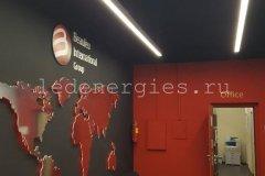Освещение офисного здания компании Ютекс