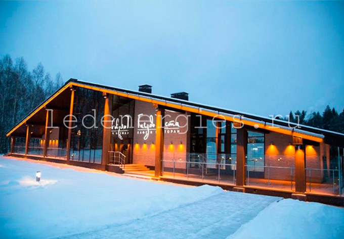 архитектурная подсветка ресторана